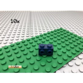 LEGO® 10Stk 1x2 Stein mit 2 Noppen seitlich Dunkel Blau 11211
