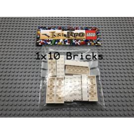 LEGO® 10Bricks 2x6 Basicstein Basic Classic Weiß White 44237 2456
