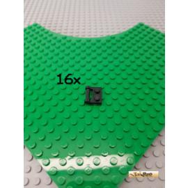LEGO® 16Stk Platte 1x2 modifiziert mit Griff schwarz 48336