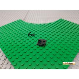 LEGO® 6Stk Schanier 2x2 modifiziert 1 Gelenk schwarz 92582