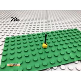 LEGO® 20Stk 1x1 Schalthebel Antenne Hebel Gelb Schwarz 73587