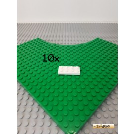 LEGO® 10Stk Platte 2x4 weiß 3020