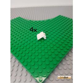 LEGO® 4Stk Winkelplatte 1x2-2x2 weiß 44728