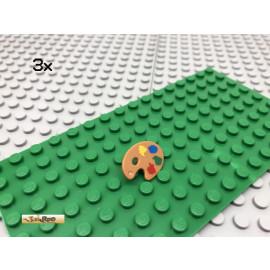 LEGO® 3Stk Minifigur Farbpalette Staffelei Paint 93551