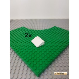 LEGO® 2Stk Schrägstein / Dachstein 4x3 weiß 3297