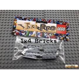 LEGO® 4Stk Achse Achsplatte 2x4 Neu Dunkel Grau 30157