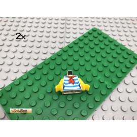 LEGO® 2Stk Minifigur Oberkörper Strand Badeanzug Bedruckt