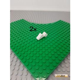 LEGO® 2Stk Bogenstein / Brückenstein 1x3x2 weiß 88292