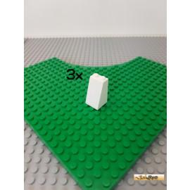 LEGO® 3Stk Schrägstein / Dachstein 2x2x3 weiß 3684