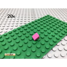 LEGO® 20Stk 1x1 30° Fliese Platte Plate Schrägstein Brick Rosa 54200