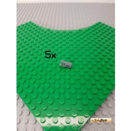 LEGO® 5Stk Technic Scharnier Zylinderförmig 2 Finger neu-dunkelgrau 30553