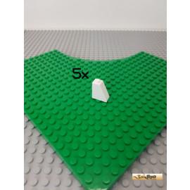 LEGO® 5Stk Schrägstein / Dachstein 1x2x2 75° weiß 60481