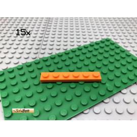 LEGO® 15Stk 1x6 Platte Plate Flach Orange 3666