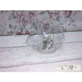 Clayre & Eef Kind im Hasenkostüm Osterhase Osterei Glas