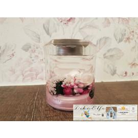 """""""Dreamlight"""" Kerze zylindrisch mit Blumen"""