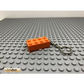 IRIPRO Schlüsselanhänger Orange 2x4 3001 LEGO® Baustein