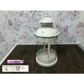 Chic Antique Laterne weiß Windlicht Shabby Rustikal 2534019