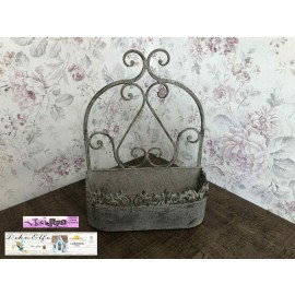 Pflanzschale Eckig Metall Vintage Shabby chick Landhaus