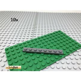 LEGO® 10Stk 1x8 Platte Plate Basic Dunkel Grau,Dark Gray 3460