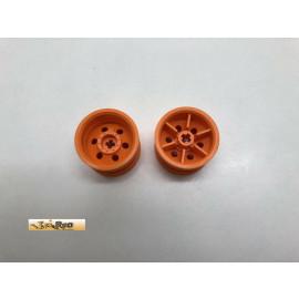 Lego 2x Felge orange 54087
