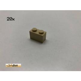 LEGO® 20Stk 1x2x1  Basic Brick Beige, Tan 3004 j