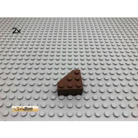 LEGO® 2Stk Eck Basic Schräg Stein Brick Braun, Brown 30505 40