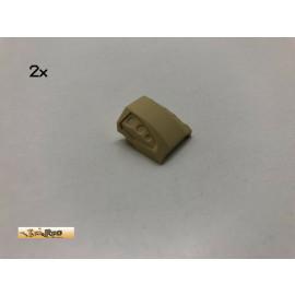 LEGO® 2Stk 2x2 Schrägstein Brick Beige, Tan 44675 by