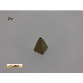 LEGO® 2Stk 2x2x2 75 ° Dachstein Turmspitze Basic Brick Beige, Tan 3688 28