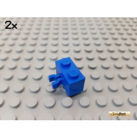 LEGO® 2Stk Stein 1x2 modifiziert mit Clip vertikal blau 30237