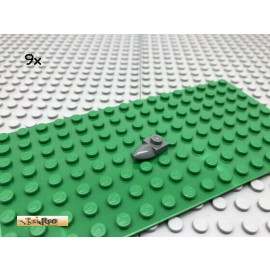 LEGO® 9Stk 1x1 Platte mit Zahn Kralle Dunkel Grau, Dark Gray 49668