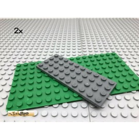 LEGO® 2Stk 4x10 Platte Basisplatte Plate Dunkel Grau, Dark Gray 3030