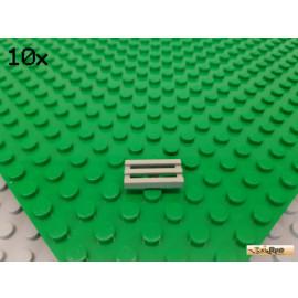 LEGO® 10Stk Fliese 1x2 modifiziert / Gitter alt-hellgrau 2412