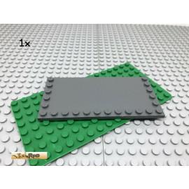 LEGO® 1Stk 6x12 Platte Fliese mit Randnoppen Dunkel Grau, Dark Gray 6178