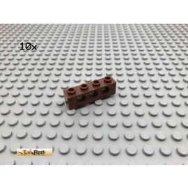 LEGO® 10Stk Technic 1x4 Loch Stein Brick Rotbraun, Reddish Brown 3701 78