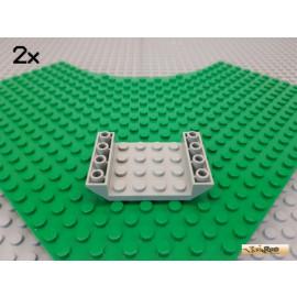 LEGO® 2Stk Schrägstein / Boot negativ 45° 6x4 alt-hellgrau 30283