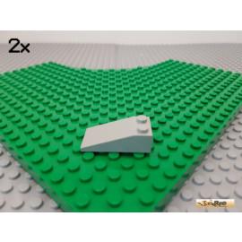 LEGO® 2Stk Dachstein / Schrägstein 2x4 alt-hellgrau 30363