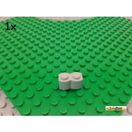 LEGO® 1Stk Stein 1x2 / Palisadenstein alt-hellgrau 30136