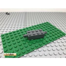 LEGO® 4Stk 2x4 Stein Achse 2 Pin Technic Basic Dunkel Grau, Dark Gray 6249