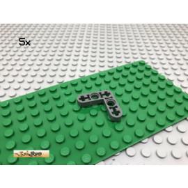 LEGO® 5Stk Technic 3x3 L-Liftarm Pin Grau, Dark Gray 32056