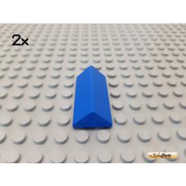 LEGO® 2Stk Dachstein / Dachfirst 2x4 45° blau 3041