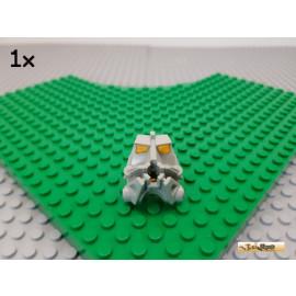 LEGO® 1Stk Bionicle Kopf alt-hellgrau mit gelb-transparentem Gehirn 32553