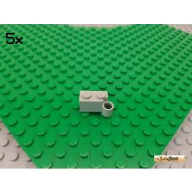 LEGO® 5Stk Stein 1x2 modifiziert / Scharnier alt-hellgrau 3831