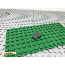 LEGO® 4Stk 1x2 Dachfirst Abschluss Dachstein Dunkel Grau, Dark Gray 3048