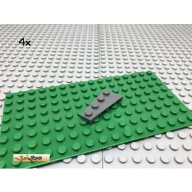 LEGO® 4Stk 2x4 Platte Flügel Keil Flach Dunkel Grau, Dark Gray 41770