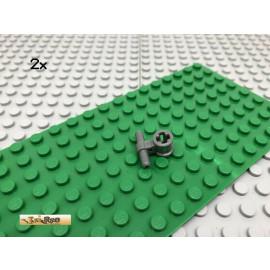 LEGO® 2Stk Technic Pneumatik Schlauch Verbinder Dunkel Grau, Dark Gray 99021