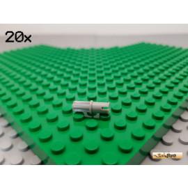 LEGO® 20Stk Technic Pin mit Krezachse / Verbinder alt-hellgrau 3749