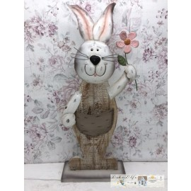 Gilde Osterhase Holz/Metall Hase Ostern