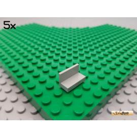 LEGO® 5Stk Fliese / Platte / Bank / Paneel 1x2 alt-hellgrau 4865