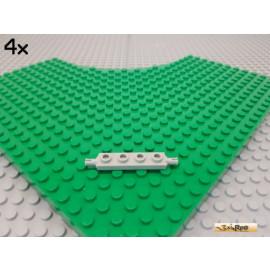 LEGO® 4Stk Platte / Achsplatte 1x4 alt-hellgrau 2926
