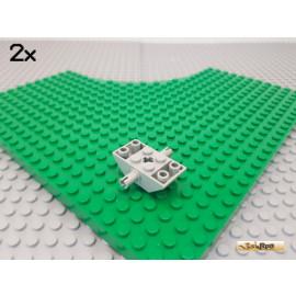 LEGO® 2Stk Dachstein / Schrägstein negativ mit 2 Pins 4x2 alt-hellgrau 30390